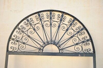 "Vintage Ornate Wrought Iron Door Arch Frame Patio Garden Element 96"" x 52"" 2"