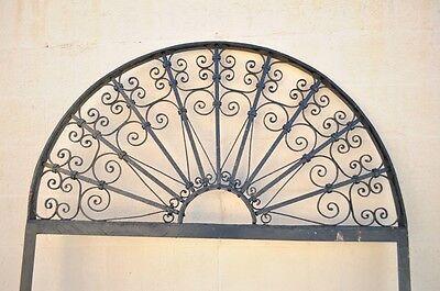 "Vintage Ornate Wrought Iron Door Arch Frame Patio Garden Element 96"" x 52"" 2"