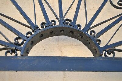 "Vintage Ornate Wrought Iron Door Arch Frame Patio Garden Element 96"" x 52"" 4"