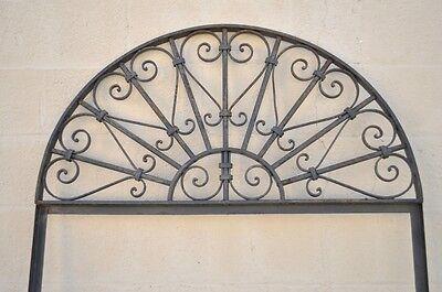 Vintage Ornate Wrought Iron Door Arch Frame Patio Garden Element B 98 x 39 2