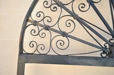 "Vintage Ornate Wrought Iron Door Arch Frame Patio Garden Element 96"" x 52"" 3"