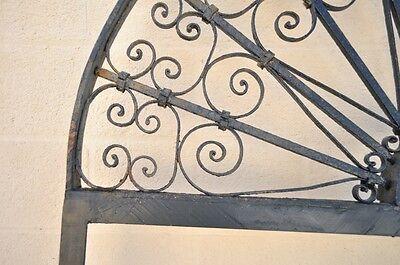 "Vintage Ornate Wrought Iron Door Arch Frame Patio Garden Element 96"" x 52"" 3"
