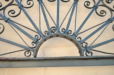 "Vintage Ornate Wrought Iron Door Arch Frame Patio Garden Element 96"" x 52"" 6"