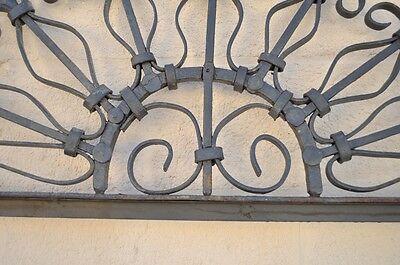 Vintage Ornate Wrought Iron Door Arch Frame Patio Garden Element D 92 x 42 3