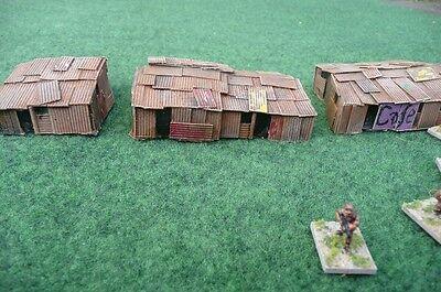 PAINTED 5 x 15mm Shantys /& fencing Wargaming Terrain AK47 District 9 Sci-fi
