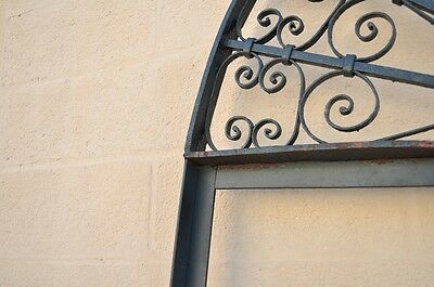 "Vintage Ornate Wrought Iron Door Arch Frame Patio Garden Element 96"" x 52"" 7"