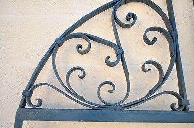 Vintage Ornate Wrought Iron Door Arch Frame Patio Garden Element A 90 x 46 3