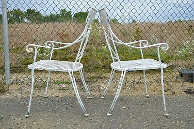 Vintage Hollywood Regency Wrought Iron Dining Set Chairs Table Salterini Style