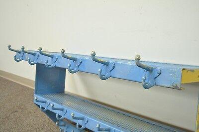 Vintage Industrial Steel 17 Coat Hat Rack Hook Wall Hanging Wall Shelf Steampunk