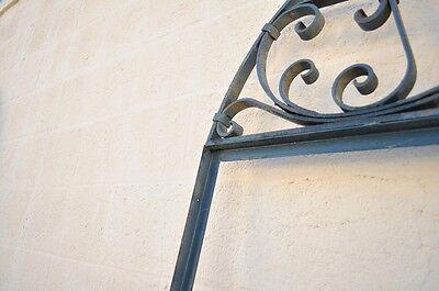 Vintage Ornate Wrought Iron Door Arch Frame Patio Garden Element A 90 x 46 5