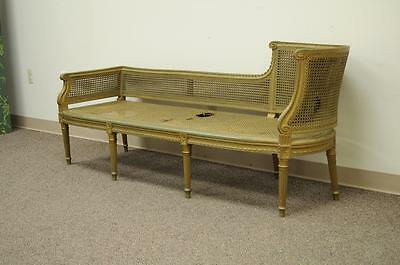 11 Of 12 Antique French Louis XVI Style Caned Chaise Lounge Recamier  Fainting Couch Sofa