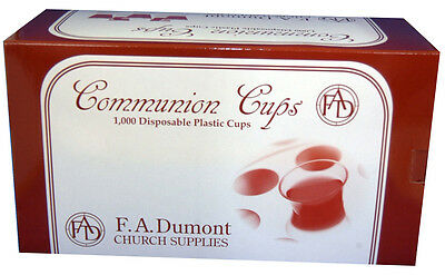 "Disposable Communion Cups, Box of 1000, 1-3/8"" Tall - NEW!! 4"