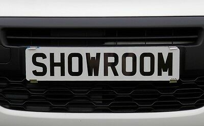 Showroom Show Display Number Plate Holders Clip On Spring Loaded Trailer Bracket 7