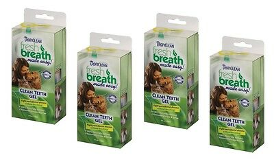 TropiClean Clean Teeth Gel For Dogs Promotes Strong Teeth & Healthy Gums 4 oz