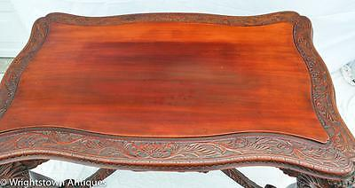 RARE Chinese 19C CARVED DRAGON Rosewood Library/Foyer TABLE Exlnt!! 8