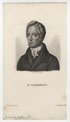 Portrait : Friedrich Tiedemann (1781 Kassel -1861 München). - Radierung, um 1825