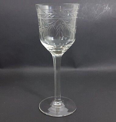 Glas Römer Weinglas, handgraviert, handgeschliffen, um 1920 AL238 3