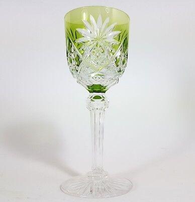 Römer Weinglas eingestochene Luftblase Handschliff Val St Lambert um 1900  AL139 2