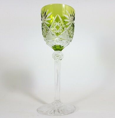 Römer Weinglas eingestochene Luftblase Handschliff Val St Lambert um 1920 AL137 3