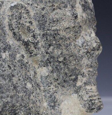Granite Egyptian Pharaoh Head Sculpture from Morris Lapidus Estate Lot 110 9