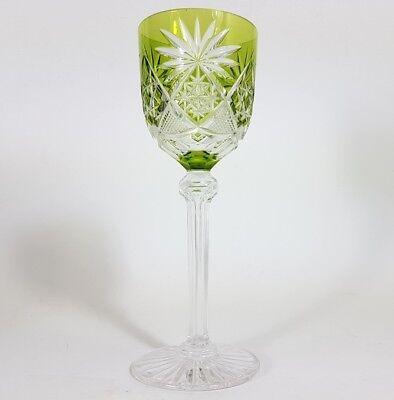 Römer Weinglas eingestochene Luftblase Handschliff Val St Lambert um 1920 AL137 2