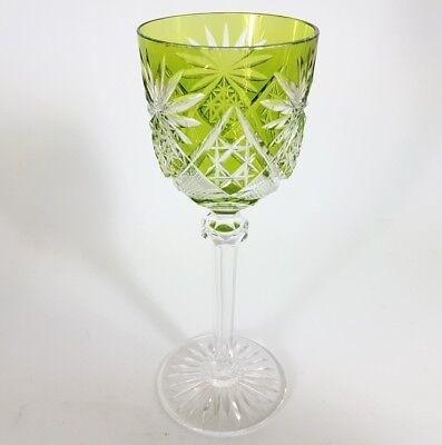 Römer Weinglas eingestochene Luftblase Handschliff Val St Lambert um 1920 AL137 4