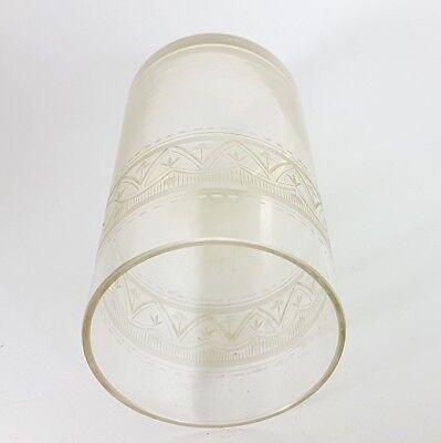 Glas Becher, handgraviert, Schlesien, um 1870 - 1890 AL207 7