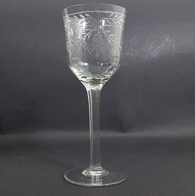 Glas Römer Weinglas, handgraviert, handgeschliffen, um 1920 AL238 4