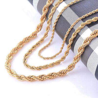 Kordelkette Armband Edelstahl Silber Gold Schwarz für Anhänger Halskette Unisex 3