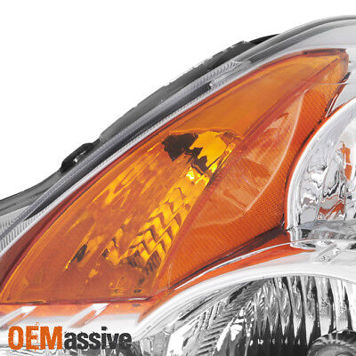 Fits 2007 2008 2009 Altima 4Dr Sedan Clear Headlights Headlamps Replacement Set 6