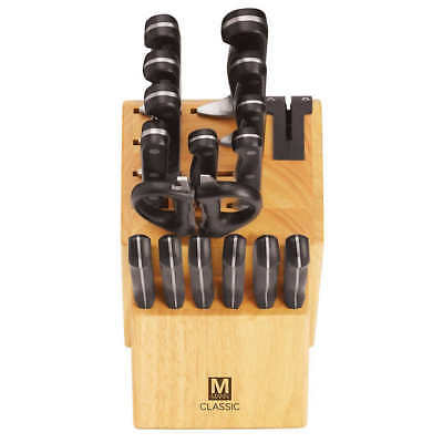 Brand New Classic 17-piece Knife Block Set with Sharpener 2