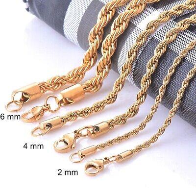 Kordelkette Armband Edelstahl Silber Gold Schwarz für Anhänger Halskette Unisex 4