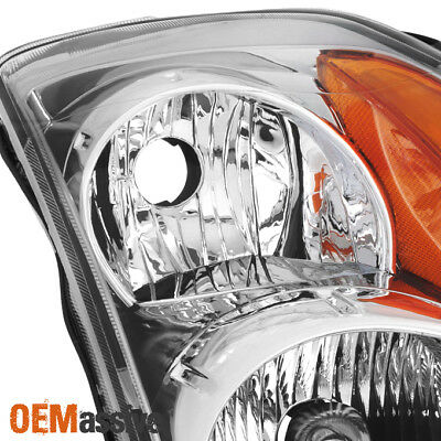Fits 2007 2008 2009 Altima 4Dr Sedan Clear Headlights Headlamps Replacement Set 7