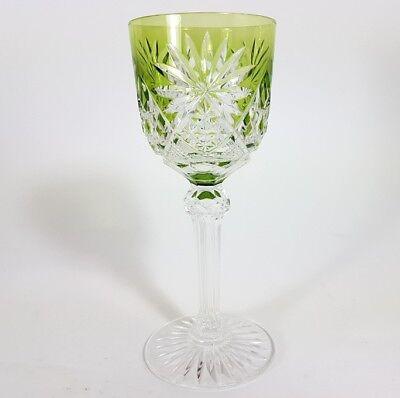 Römer Weinglas eingestochene Luftblase Handschliff Val St Lambert um 1900  AL139 3