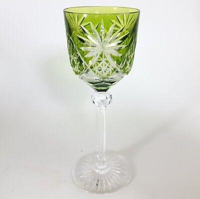 Römer Weinglas eingestochene Luftblase Handschliff Val St Lambert um 1920 AL137 5