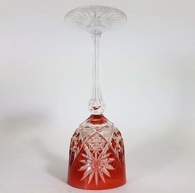 Römer Weinglas eingestochene Luftblase Handschliff Val St Lambert um 1900  AL141 5