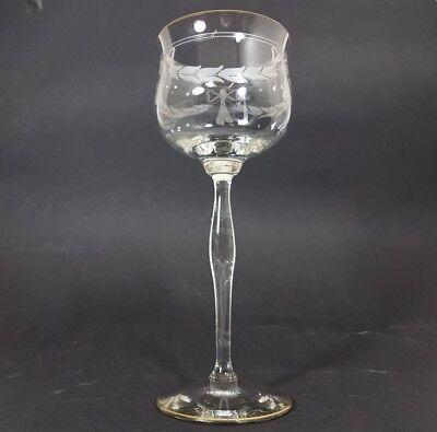 Jugendstil Wein- Glas Römer, handgeschliffen, wohl Theresienthal, um 1900  AL153 5