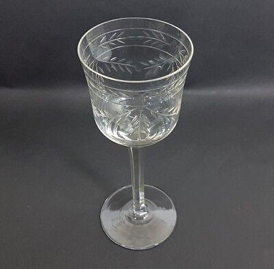 Glas Römer Weinglas, handgraviert, handgeschliffen, um 1920 AL238 2