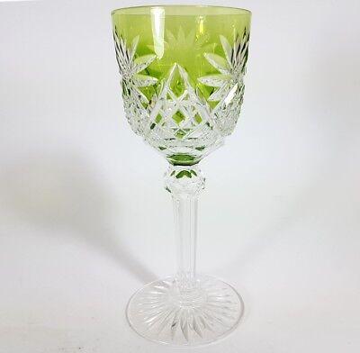 Römer Weinglas eingestochene Luftblase Handschliff Val St Lambert um 1900  AL139 4