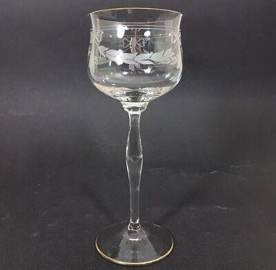 Jugendstil Wein- Glas Römer, handgeschliffen, wohl Theresienthal, um 1900  AL153 4