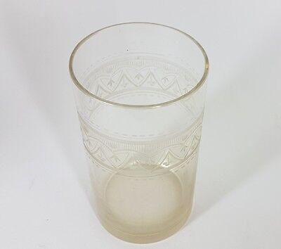 Glas Becher, handgraviert, Schlesien, um 1870 - 1890 AL207 2