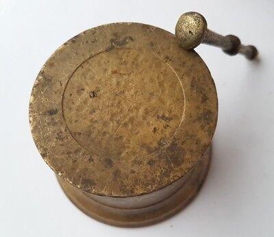 Sehr seltener Mörser mit Pistill Bronze um 1800 AL1147 10