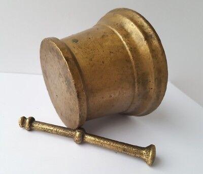 Sehr seltener Mörser mit Pistill Bronze um 1800 AL1147 9