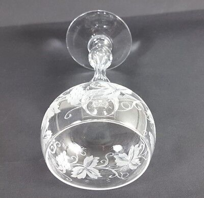 Glas/ Römer Weintraube, handgraviert, wohl Val St. Lambert, um 1880 - 1890 AL282 8