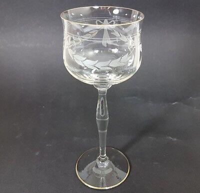 Jugendstil Wein- Glas Römer, handgeschliffen, wohl Theresienthal, um 1900  AL153 3