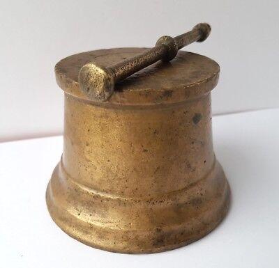 Sehr seltener Mörser mit Pistill Bronze um 1800 AL1147 5