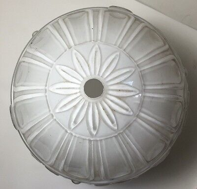 Excellent Vintage White Frosted Ceiling Light Fixture Shade Home Decor 3