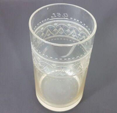 Glas Becher, handgraviert, Schlesien, um 1870 - 1890 AL207 10