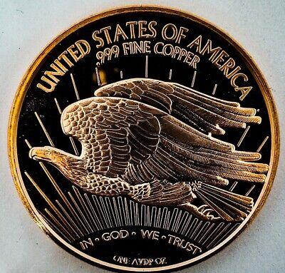 Lot of 20 1933 SAINT GAUDENS DOUBLE EAGLE DESIGN 1 OZ Ounce Copper ROUNDS