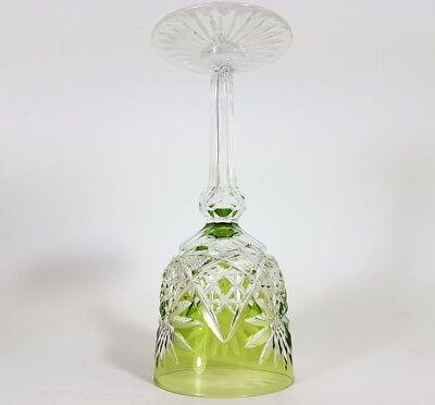 Römer Weinglas eingestochene Luftblase Handschliff Val St Lambert um 1900  AL139 5